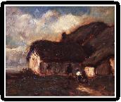 ノルマンディーの藁葺きの家