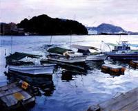 米田 和恵「夕暮れの港」