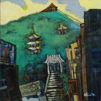 女賀 信太郎「千光寺の山」