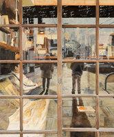 国光 美津恵「夕刻のカフェ」